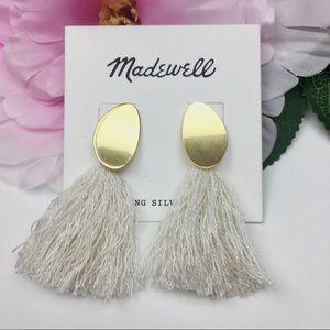 NWT Madewell Statement Tassel Earrings Gold